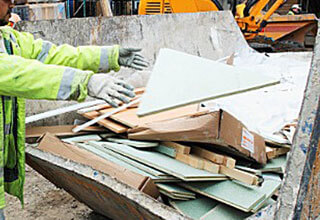 Collecting construction waste